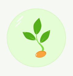 planting seed sprout in ground symbol grow vector image