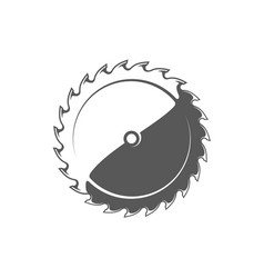 Saw blade isolated on white background vector