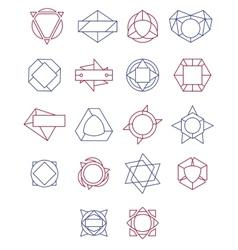 set simple and graceful monochrome monogram vector image