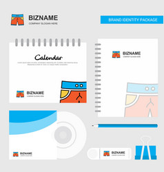 shorts logo calendar template cd cover diary and vector image
