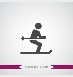 ski icon simple vector image