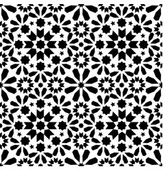 spanish moroccan tiles tile pattern - black vector image