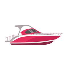 speedboad yacht or sea cruise sailboat flat vector image