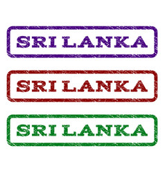 Sri lanka watermark stamp vector