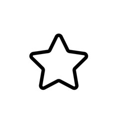 star icon graphic design template vector image