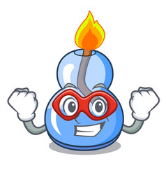 Super hero alcohol burner character cartoon vector