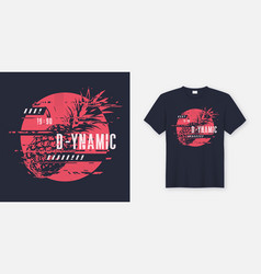 T-shirt abstract dynamic design with vector