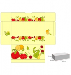 template for box with fruit vector image
