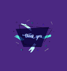 Thank you phrase banner vector