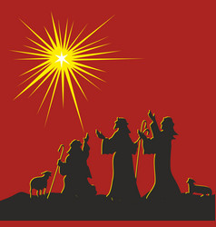 the nativity of jesus christ vector image