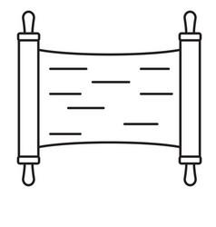 Torah line icon vector