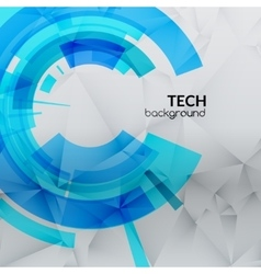 Abstract blue technical triangle background with vector image