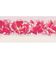 Background with three red tulips vector image vector image