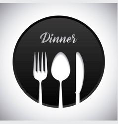 cutlery symbol design vector image vector image