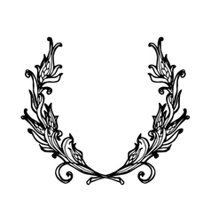Floral wreath branches set Decorative elements at vector image vector image