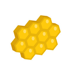 honeycomb icon flat style isolated on white vector image vector image