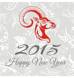 New year card with goat vector image vector image