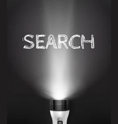 realistic flashlight search concept vector image