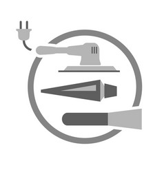 Tools needed for painting door vector