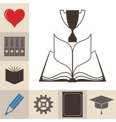 Book Education Knowledge vector image vector image