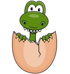 Funny dinosaur born vector image vector image