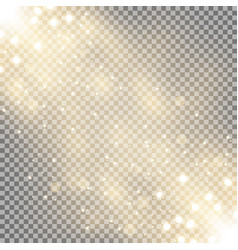 glittering particles background effect vector image vector image