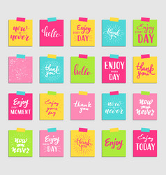 Lettering for greeting card and sticker vector