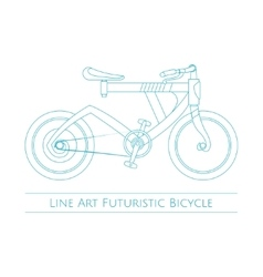 Line Art Futuristic Bicycle vector image