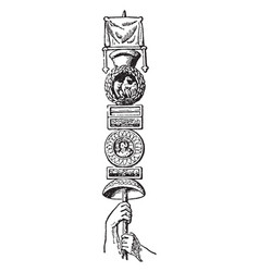 Roman standard is a legionary known as an vector