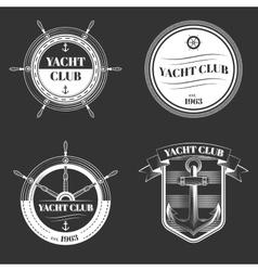Set of Yacht club logo vector image vector image
