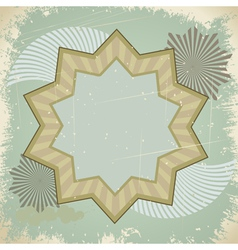 Vintage star postcard vector image vector image