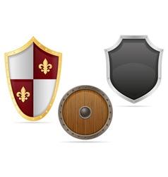 battle shield 04 vector image vector image