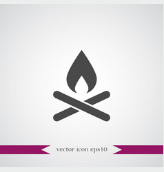 camp fire icon simple vector image vector image