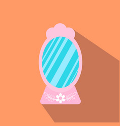 mirror from beauty salon vector image vector image