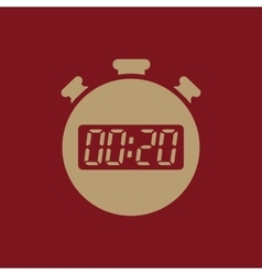 The 20 seconds minutes stopwatch icon Clock and vector image