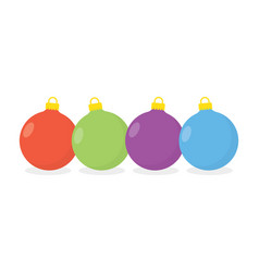 christmas balls isolated on white vector image vector image