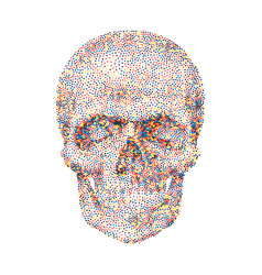 geometric background with colorful skull vector image vector image