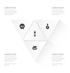 icon combat set of poisonous poison defense and vector image vector image