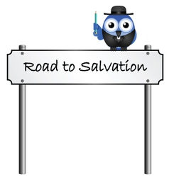 ROAD SIGN SALVATION vector image
