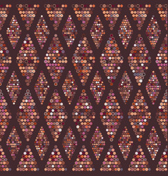 seamless geometric pattern dots vector image vector image
