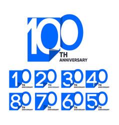 100 th anniversary celebration your company vector