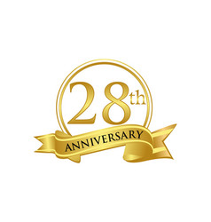 28th anniversary celebration logo vector image