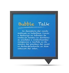 3D bubble talk blackboard Design element EPS10 vector image