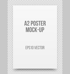 a2 white poster mock-up vector image