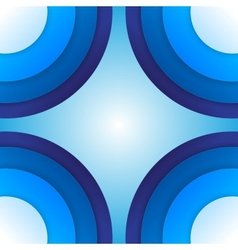 Abstract blue paper circles background vector