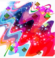 abstract color design - futuristic background vector image