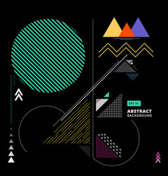 Abstract colorful geometric composition forms vector