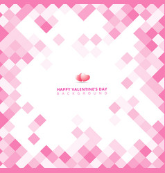 Abstract geometric square pink color pattern vector