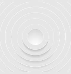 abstract grey circles with shadow background vector image