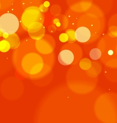Abstract Orange Bokeh Lights Background vector image